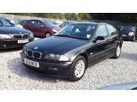 BMW 3 SERIES 1895cc Petrol, Saloon, Manual, Black, MotExpires: 19 May 2017