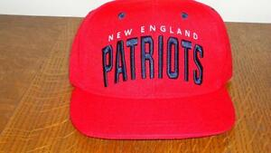 New England Patriots red snap-back cap