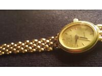 9ct gold ladies vicence watch FOR SALE