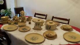 Honiton pottery dinner service.