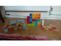 Assortment of wooden blocks