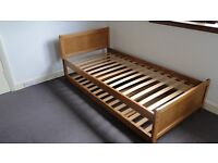 Single Bed with pullout single bed below - Sturdy wooden frame - John Lewis