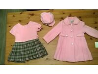 Girls designer coat/dress/hat 2-3 years