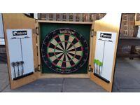 Unicorn Home Darts Centre including Darts Board and Cabinet