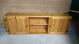 Wall cupboard. Solid pine made in England.