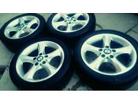 ORIGINAL BMW ALLOYS AND VERY GOOD TYRES
