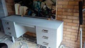 Refurbished 70s dressing table in Grey satin open to offers