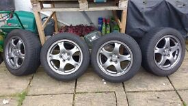 Subaru alloys 16inch with Perelli winter tyres great condition