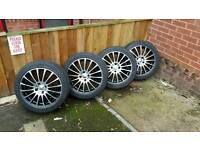 "New tyres on 17"" alloys"