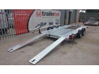 Brian James C4 Blue car transporter trailer