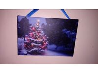 Small light up Xmas canvas