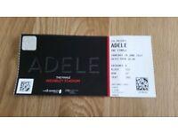 Adele Ticket Thursday 29th June 2017. Wembley London