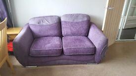 Purple 2 seater sofa works sofa
