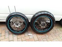 DRZ400 SM wheels, Supermoto