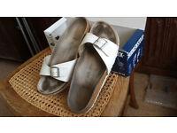 birkenstock white madrid sandals size37