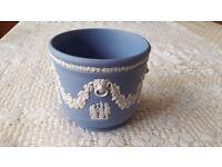 Wedgwood Blue Jasperware flowerpot