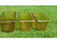 3 plastic containers