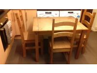 Mexican Pine table & Chairs