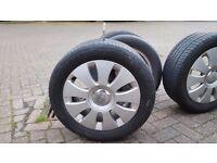 £150 8 wheels BARGAIN Audi wheels 5x112 with tyres (2 sets = 8 wheels) A4 A3 A6 T4 passat genuine
