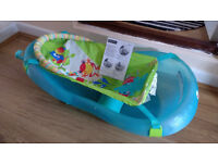 Fisher Price Rainforest Friends Baby Bath Tub inc removable sling and stopper