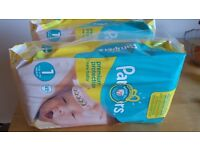 Pampers Size 1 newborn Diapers / nappies