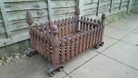 Antique Blacksmith made fire basket/grate