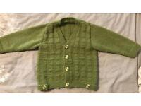 Hand knitted baby boys cardigans / Jumper
