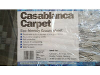 Leisurewize Casablanca Caravan Awning Tent Decking Breathable Carpet 2.5m X 6.5m White & Charcoal