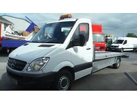 2012 Mercedes Sprinter 313 fitted with new 16ft beavertail car transporter with 8ft aluminium ramps