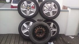 4 Alloy wheels for Seat Alhambra + 1 steel spare