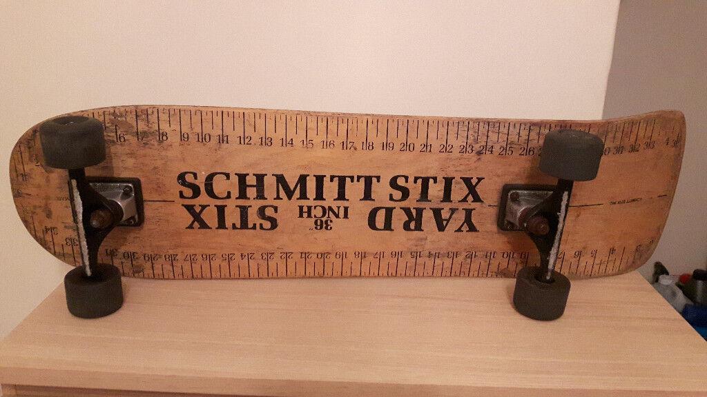 """Schmitt Stix """"Yard Stix"""" 36 Inch Skateboard Deck Vintage old school"""