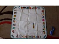 Alphabet aqua doodle mat for water painting