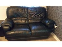 sofas recliner ,furniture,2 seater, 1 seater, black, good condition,