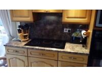 Electric Hob (5 Zone Bosch), Sink and 4 Worktops