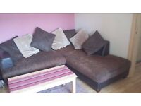 REDUCED PRICE -FAUX LEATHER SOFA - MINT CONDITION