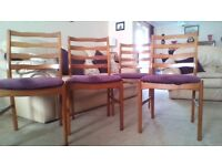 4 Teak Dining Chairs (William Lawrence)