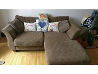 Two seater corner sofa