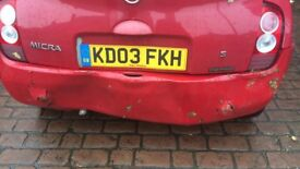 Nissan Micra for spares or repair