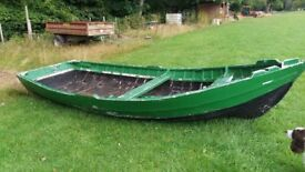 wooden 14ft boat needs attention