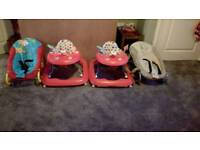 Baby walkers and bouncers