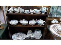 Masons pottery cups saucers, dinner plates etc