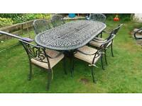 Garden table and chairs 6 seat