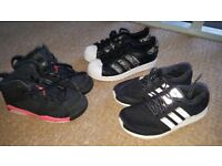 Adidas size 3 and Nike Jordan size 13 trainers