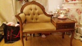 For Sale Vintage Telephone Table Chaise Lounge Seat