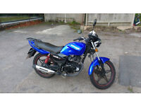 Sinnis Max 2 (Max II) 125cc motorcycle, 2016 (66 Reg), blue, 7234 miles, good condition, £700.