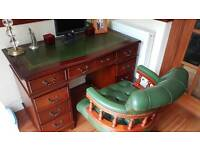 Mahogany table and Captains chair