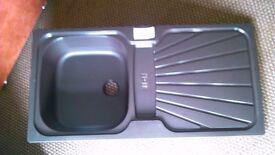 very dark brown small kitchen sink plastic