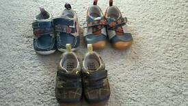Boys Clarks shoes 3 1/2