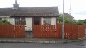 2 bedroomed end terraced bungalow to rent