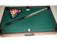 Children's table top snooker table
